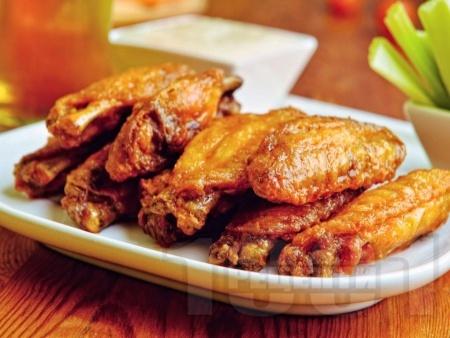 Печени пилешки крилца с майонеза, кимион и галета на фурна - снимка на рецептата